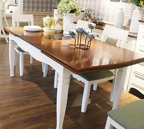 餐厅经典长餐桌简美风格高档拉合长餐台