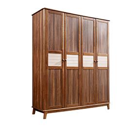 北欧风格实用大容量储物衣柜卧室收纳四门衣柜