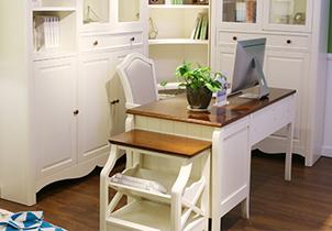 书房高档储物书台简美风格经典书桌