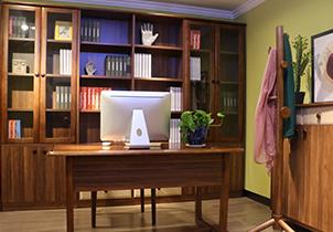 书房大容量储物书柜北欧风格高档书柜组合