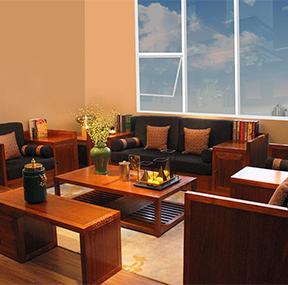 客厅沙发带柜 新中式风格客厅组合 单人位+双人位+三人位