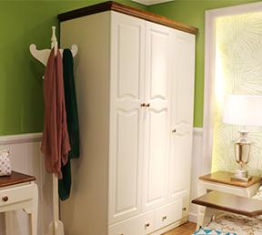成人衣柜组合衣橱简美风格三门衣柜