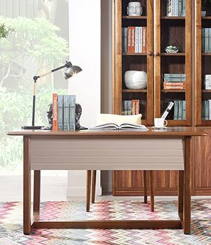 书台书桌椅组合 北欧风格 图片色 书桌