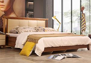 北欧风格时尚卧室储物架子床 1.8*2米