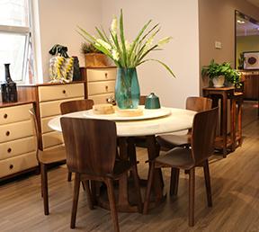 餐厅餐桌大理石圆餐台北欧风格饭桌