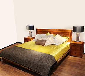 新中式卧室床 雅风1.8m双人床