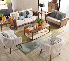 布艺沙发可拆洗北欧组合 单人位+双人位+三人位