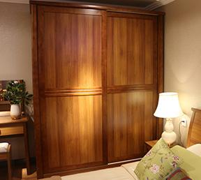 卧室大容量储物衣柜现代风格趟门衣柜