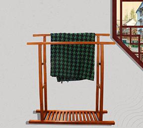 客厅落地装饰架中式风格简约布架